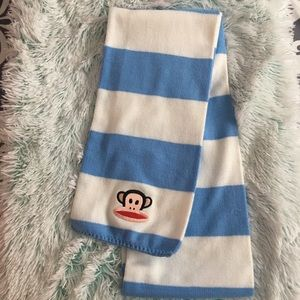 Paul Frank blue/white striped scarf
